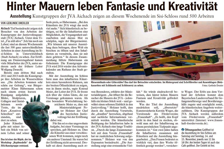 4.Zeitungsartikel Ausstellung